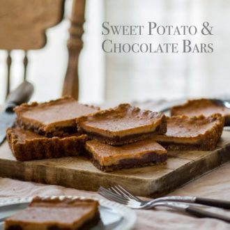Sweet potato and chocolate bars recipe are perfect for the holidays | @whiteonrice