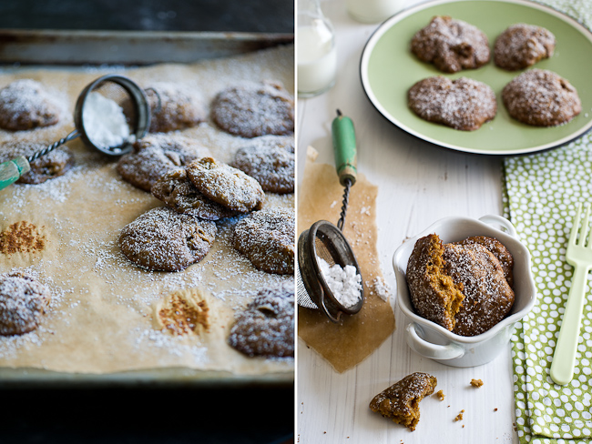 Sweet Potato Molasses Cookies step by step photos