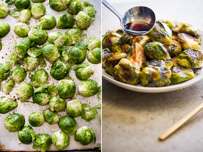 Roasted Brussels Sprouts Recipe with Teriyaki Glaze on WhiteOnRiceCouple.com