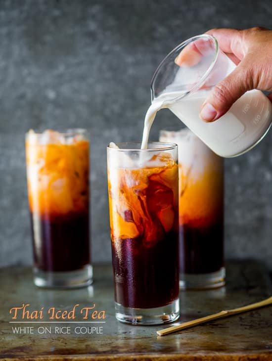 Easy Thai Tea Recipe (Thai Iced Tea) from White On Rice Couple | @whiteonrice