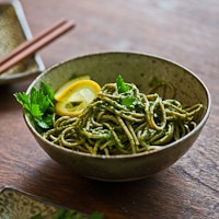 Thumbnail image for Soba Noodles w/ Parsley Pesto & Giveaway : and I shall have some peace there