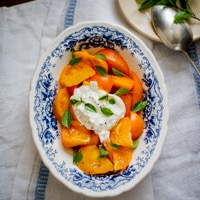 Thumbnail image for Tomato Salad with Burrata Cheese and Dr. Wyches Heirlooms
