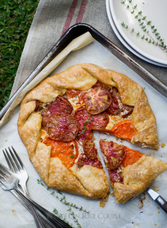 Heirloom Tomato Galette Recipe on WhiteOnRiceCouple.com