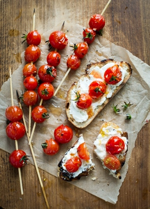 Grilled Tomato Lollipops