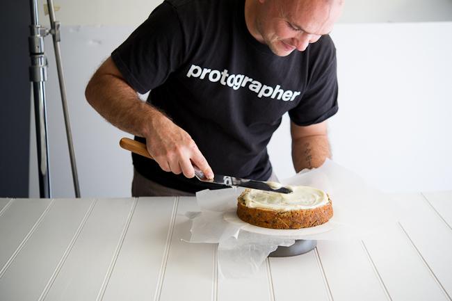 Todd baking from WhiteOnRiceCouple.com
