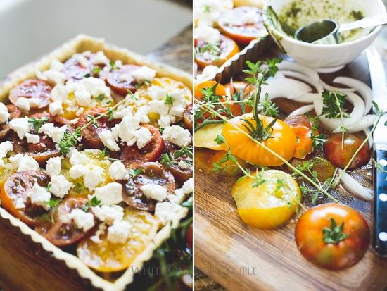 Fresh Pesto Tomato Tart step by step photos