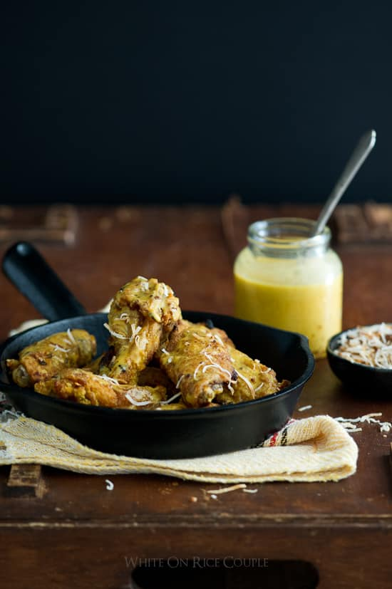 Spicy Curry Chicken Wings Recipe | @whiteonrice