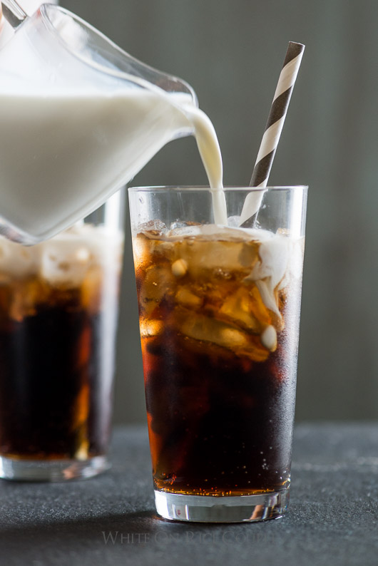 Drink a Polar Bear:  Creamy Vanilla Coke Recipe on @whiteonrice