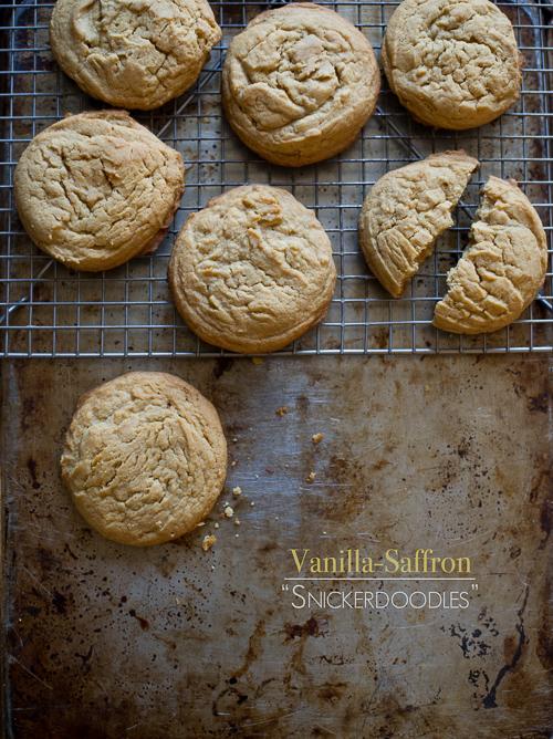 Vanilla Saffron Snickerdoodle Cookies WhiteOnRiceCouple.com