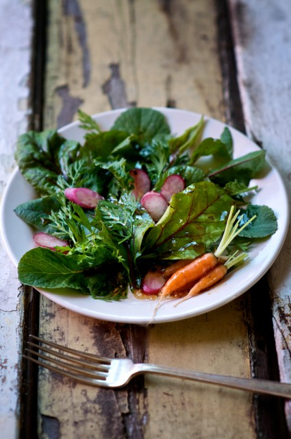 radish carrot top greens recipe