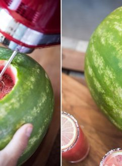 Inside A Watermelon Mojito Recipe | @whiteonrice