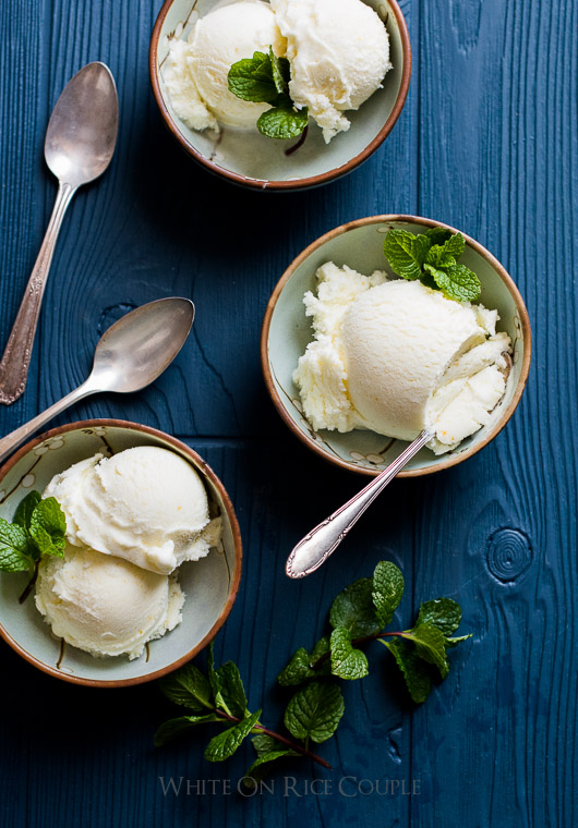 Creamy Yuzu Lime Sherbet Recipe on @whiteonrice