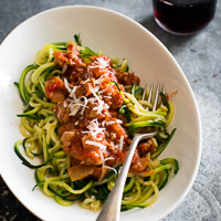 Thumbnail image for Zucchini Noodles with Turkey Marinara Sauce