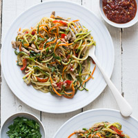 Thumbnail image for Healthy Zucchini Noodle Chow Mein with Pork