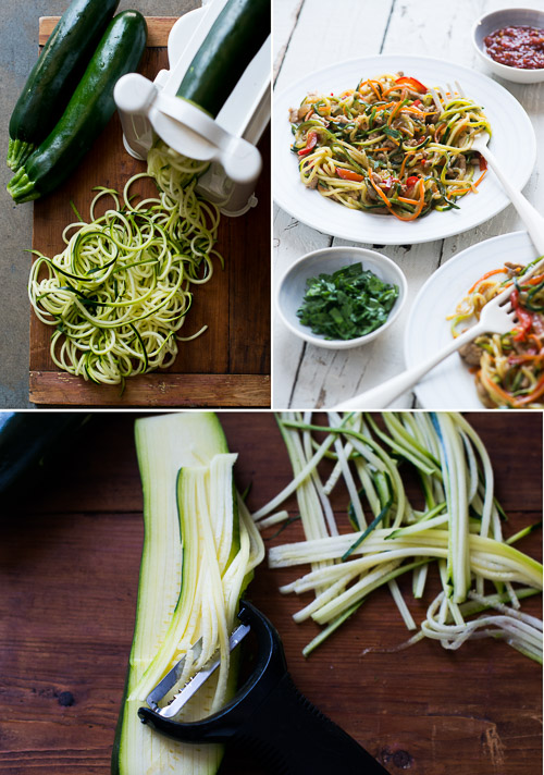 Zucchini Noodle Chow Mein Recipe with Pork. It's so healthy and delicious from @whiteonrice