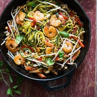 Zucchini Noodle Pad Thai Recipe- Zoodles PAD THAI Recipe