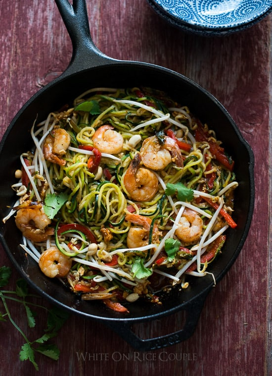 Zucchini Noodle Pad Thai Recipe Zoodles Pad Thai Recipe