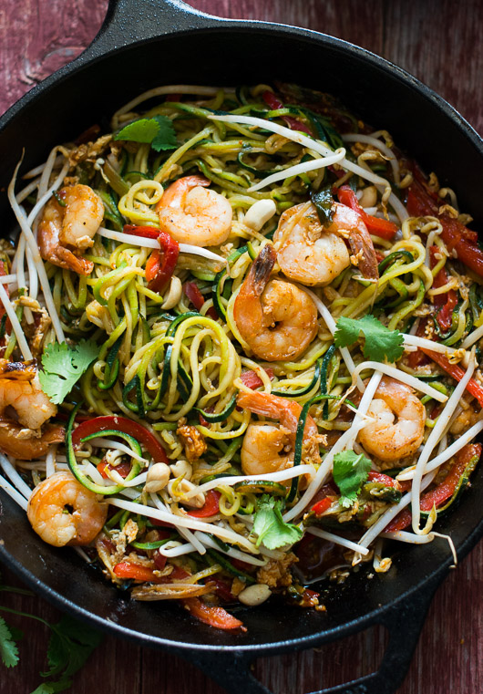 Easy Healthy Vegetable Pad Thai Recipe With Cabbage White On Rice