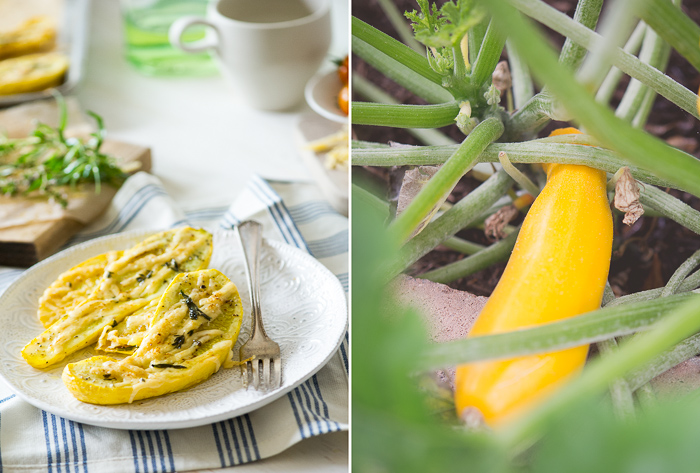 Roasted Zucchini Recipe with Cheese and Herbs from White On Rice Couple